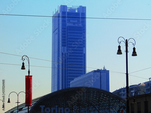 Slika na platnu Torino Porta Susa And Building Against Sky