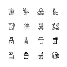 Editable 16 Can Icons For Web And Mobile