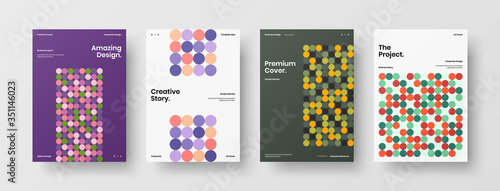 Fotografie, Obraz Company identity brochure template collection