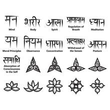 Yoga Icons And Sanskrit Texts