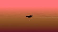 Airplane Silhouette Moving Sof...