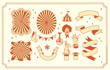 Circus Elements Graphic Design...