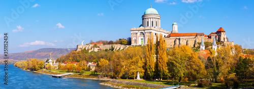 Basilica is religion landmark of Esztergom in Hungary Fototapet