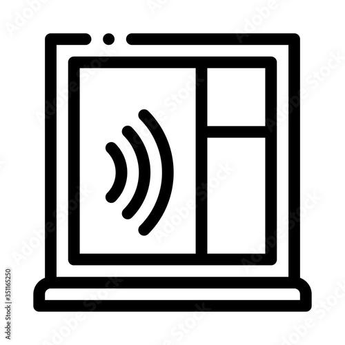 soundproof window icon vector Tapéta, Fotótapéta