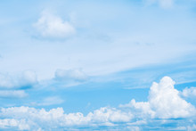Blue Sky With Clouds. Beautifu...