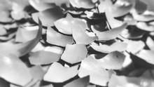 Full Frame Shot Of Broken Eggshells