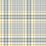 Plaid pattern vector in grey, yellow, white. Seamless herringbone check plaid graphic for flannel shirt, skirt, blanket, throw, duvet cover, or other modern fabric design. - 351179436