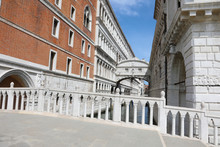 Famous View Of Venice With The Bridge Of Sighs But Without Peopl