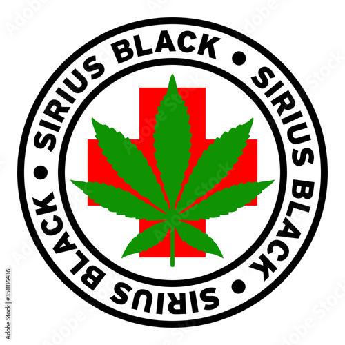 фотография Round Sirius Black Medical Marijuana Strain Clipart