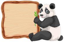 Board Template With Cute Panda...