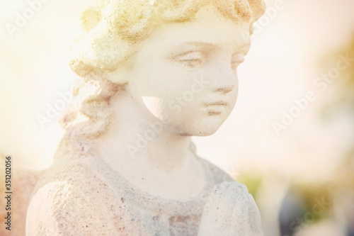 Foto Close up guardian angel of children as symbol of love, faith, hope and good
