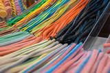 Fototapeta Tęcza - Gummy colorful candies for sale. Budapest, Hungary