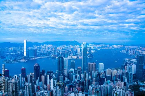 Fototapeta Hong kong Skyscraper Building Big city View obraz na płótnie