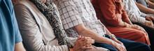 Group Of Elderly People Sittin...