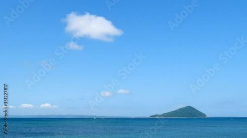 Fototapete - 海と島 姫島