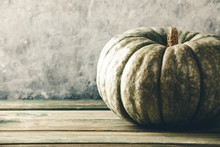 Autumn Background With Pumpkin...