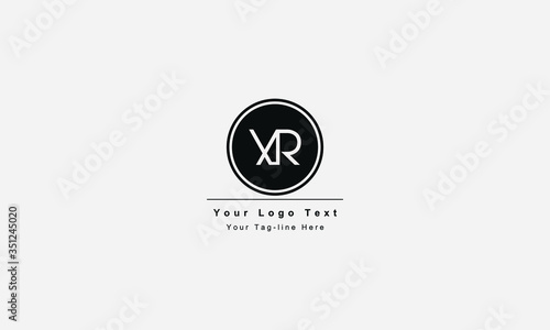 XR or RX letter logo Canvas Print