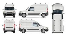 Mini Cargo Van Vector Mockup F...