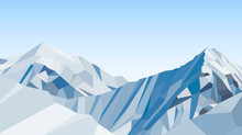 Day Mountains Low Poly Vector,...