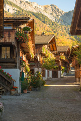 The Swiss village of Brienz on a sunny day
