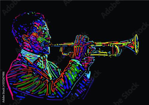 trebacz-jazzowy-ilustracji-wektorowych-na-plakat-jazzowy