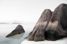 Big Granite Rock With Highligh...