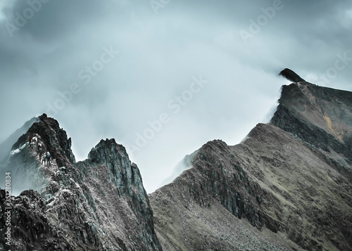 Fotografie, Obraz Crib Goch, a famous knife edged ridge line route to the summit of Mount Snowdon