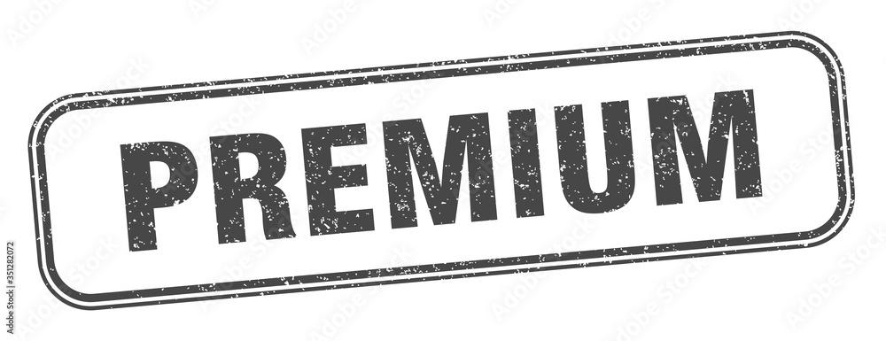 Fototapeta premium stamp. premium square grunge sign. label
