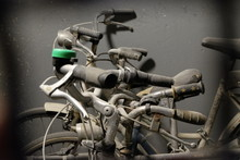 Close-up Of Old Bicycles