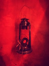 Close-up Of Broken Lantern Han...