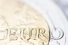 Two Euro Coin Macro Detail