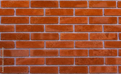 Perfect Orange Brick Wall Background