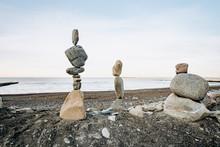 Figures Of Stones On The Beach...