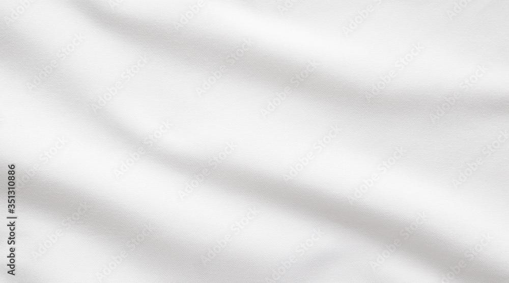 Fototapeta White fabric smooth texture surface background