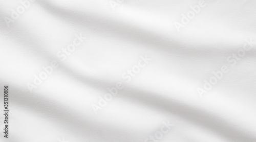 White fabric smooth texture surface background Billede på lærred