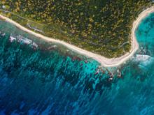 Aerial View Of Punta Arena Bea...