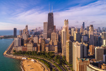 Aerial View Of Chicago Skyscra...