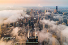 Aerial View Above Willis Tower...