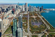 Aerial View Of Chicago Pride P...