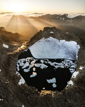 Aerial View Of Small Glacier A...