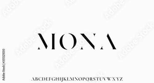 MONA. the luxury and elegant font glamour style Tableau sur Toile