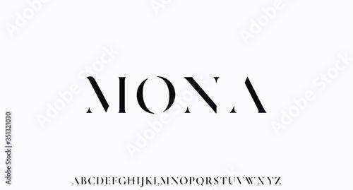 Obraz na plátně MONA. the luxury and elegant font glamour style
