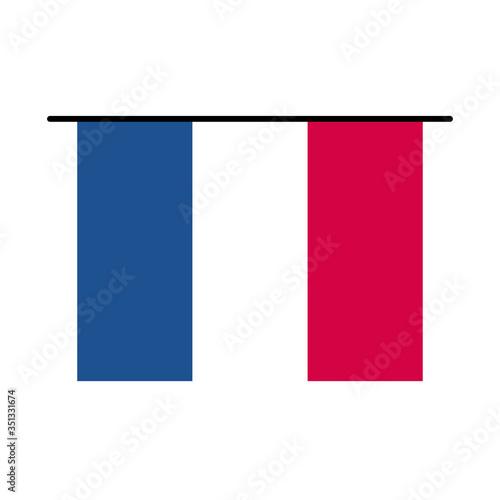 Obraz na płótnie France flag line and fill style icon vector design