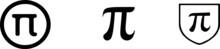 Pi Icon Isolated On Background