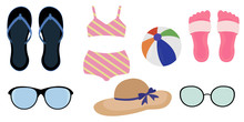 Set Of Summer Things For The B...