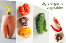 Collage Of Ugly Vegetables, Ca...