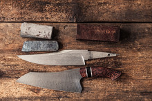 Hand-forged Knifes, Damask Steel