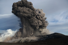 Iceland, View Of Lava Erupting From Eyjafjallajokull