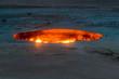 Leinwandbild Motiv Darvaza (Derweze) gas crater (called also The Door to Hell) in Turkmenistan