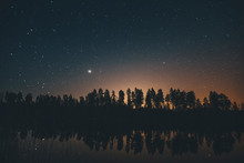 Starry Sky Over Trees In Soder...